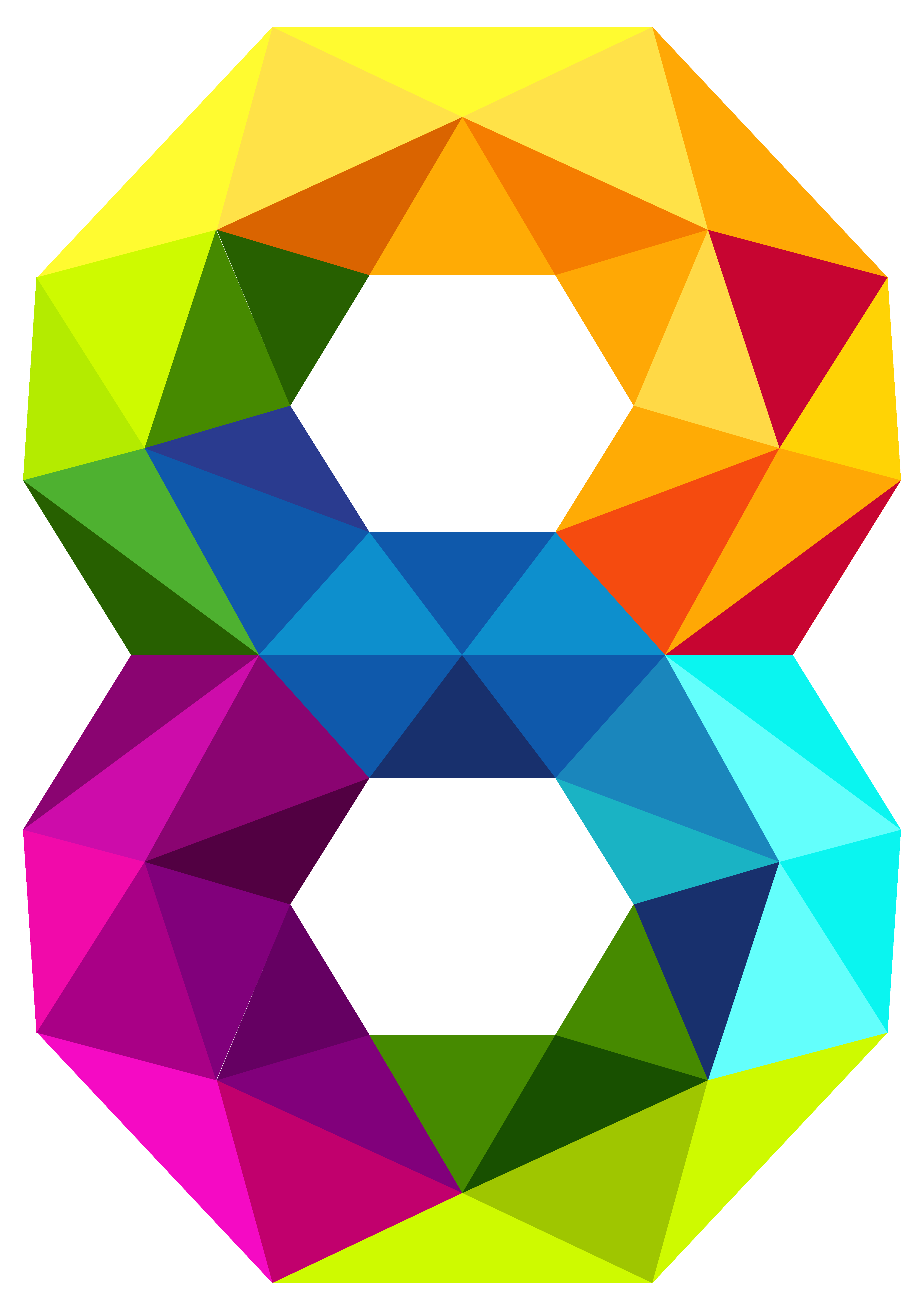 Shaded sun clipart jpg library download Colourful Triangles Number Eight PNG Clipart Image | Gallery ... jpg library download