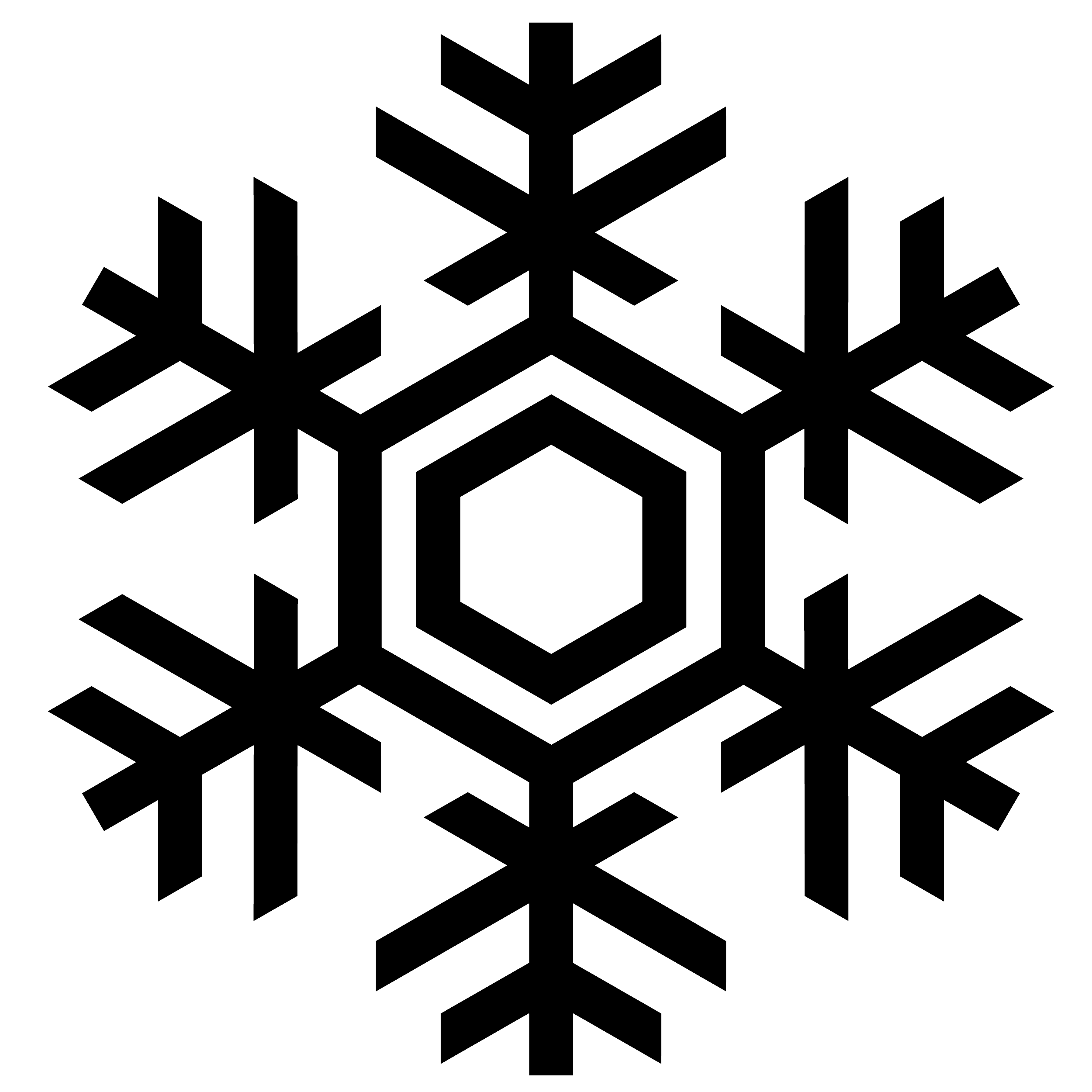Eight section snowflake clipart svg black and white download Snowflake silhouette PNG image svg black and white download