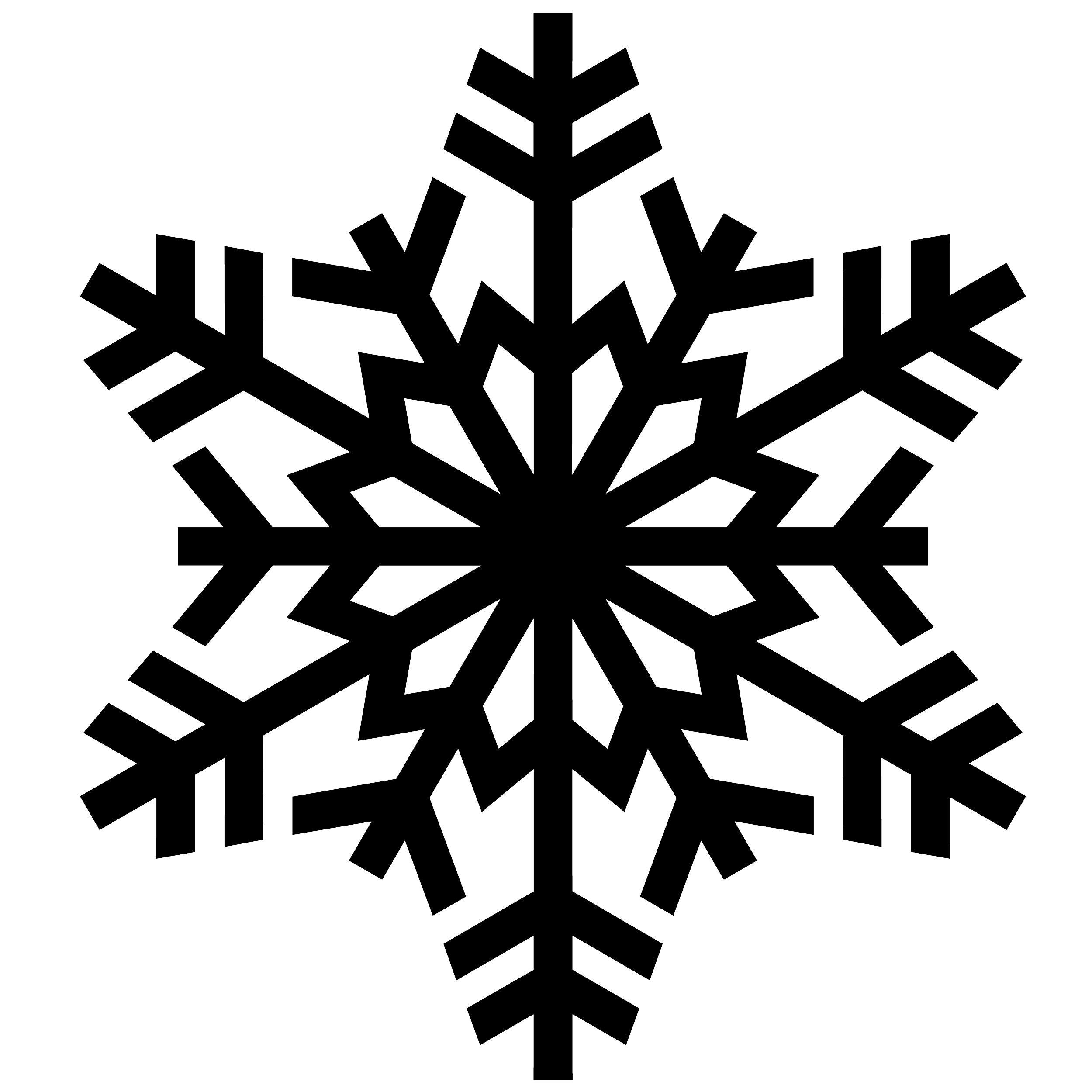 Ice and snowflake clipart banner black and white download Snowflake PNG image banner black and white download