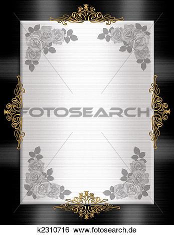 Einladung clipart schwarz wei vector Stock Illustration - förmlichkeit, einladung, schablone, schwarz ... vector