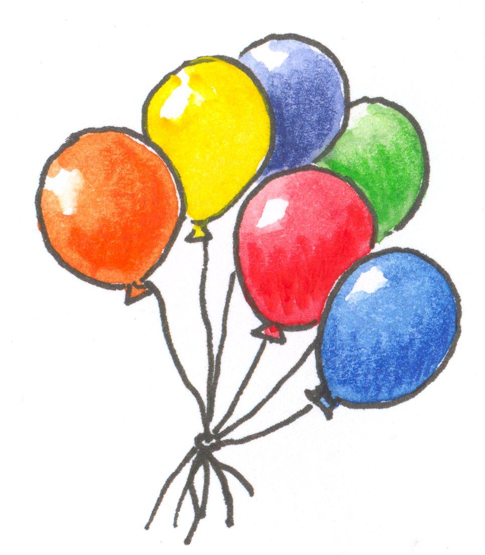 Einladung clipart schwarz wei clip royalty free library Clipart luftballon geburtstag - ClipartFest clip royalty free library