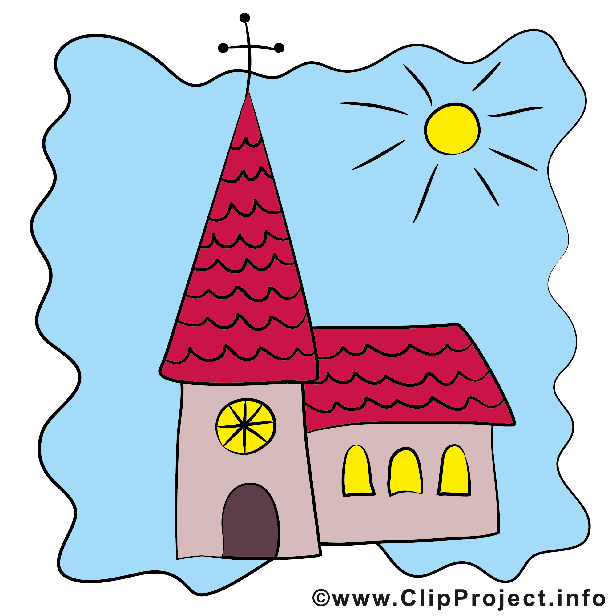 Einladung clipart schwarz wei png transparent stock Kirche clipart schwarz weiß - ClipartFest png transparent stock