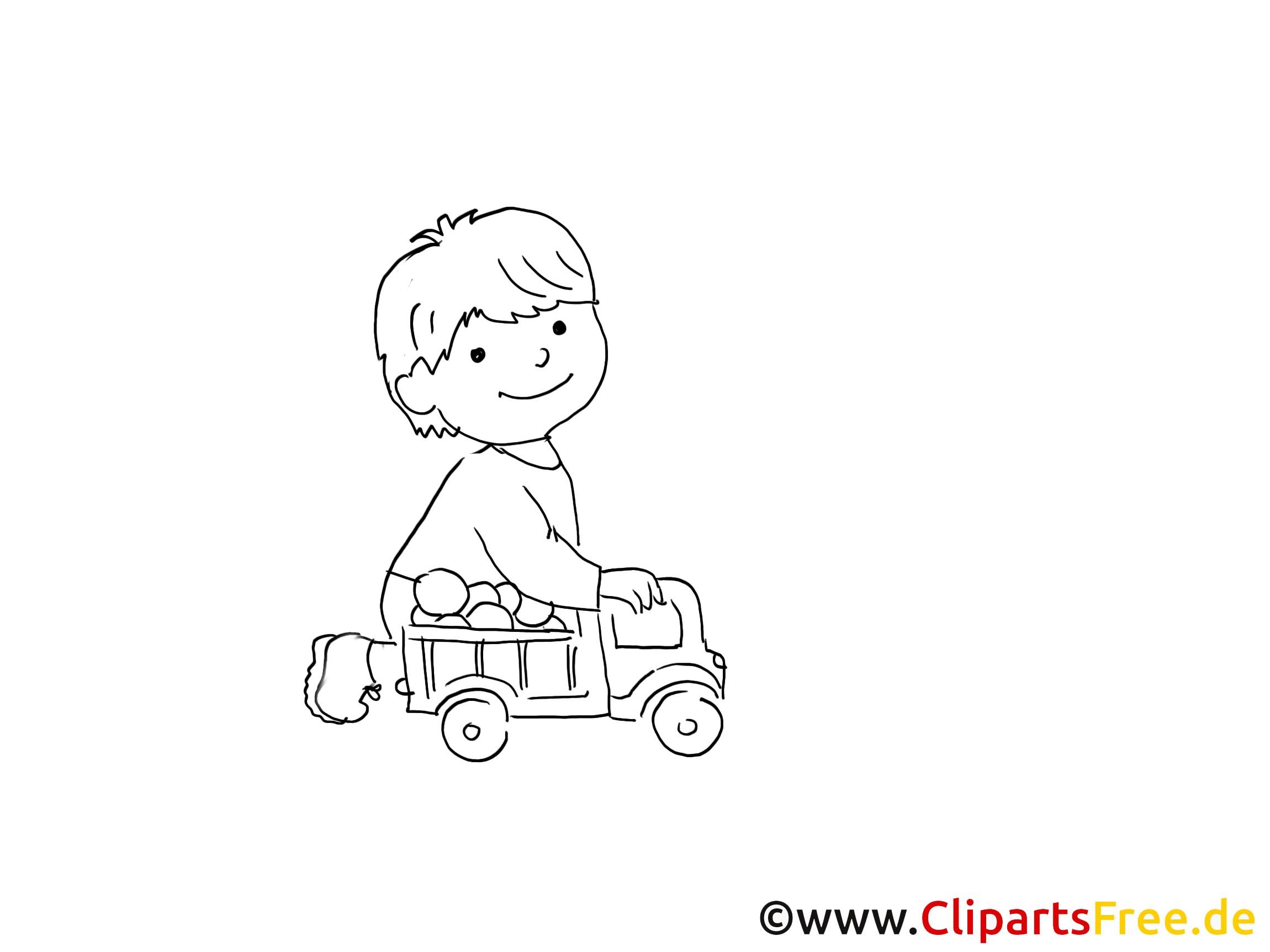 Einladung clipart schwarz wei image black and white Kind spielt mit Spielzeugauto Zeichnung, Bild schwarz-weiss ... image black and white