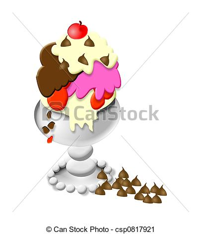 Eisbecher cliparts kostenlos png royalty free stock Clipart of Ice Cream Sundae - Delicious ice cream sundae for a hot ... png royalty free stock
