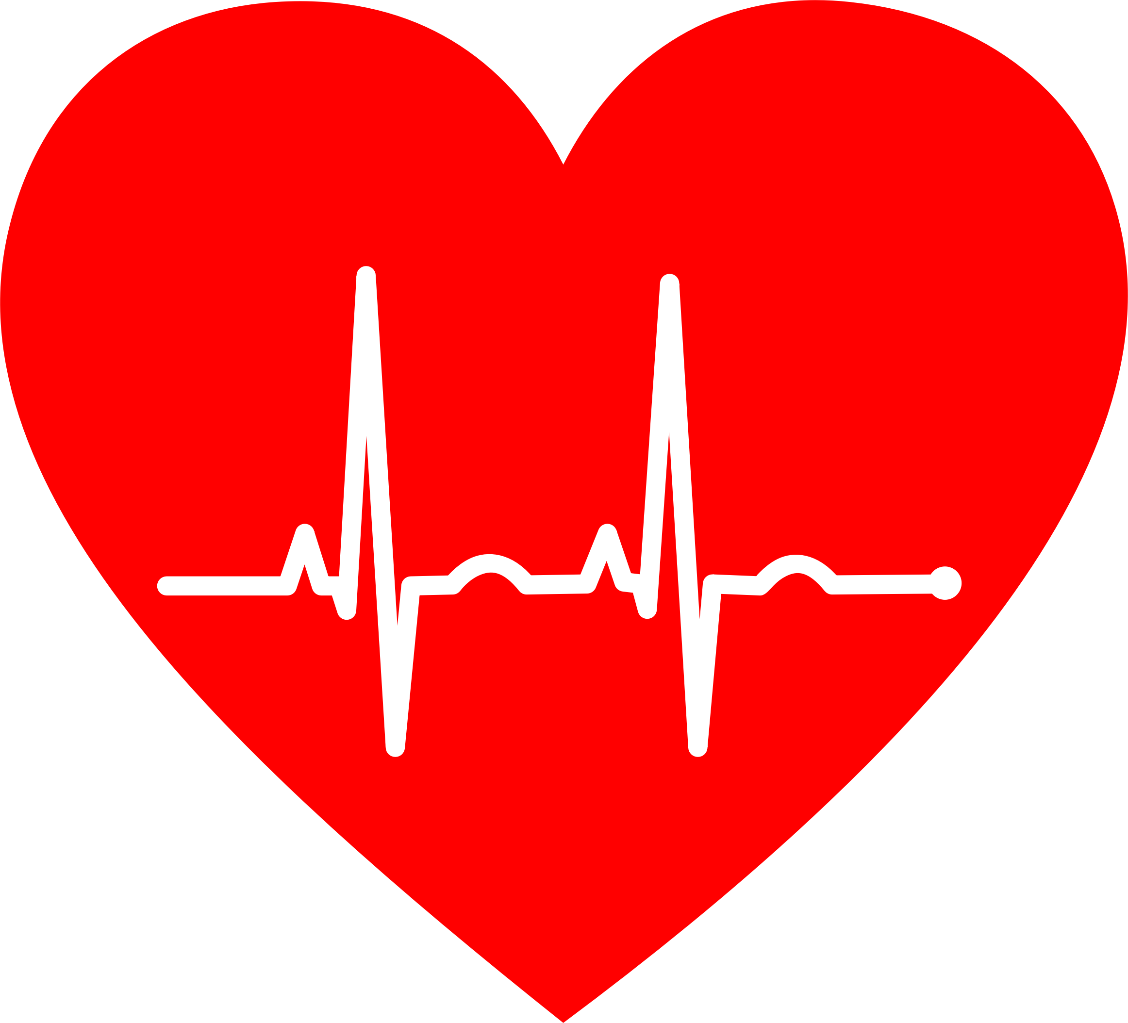 Heart with ekg line clipart graphic download Clipart - EKG Heart graphic download