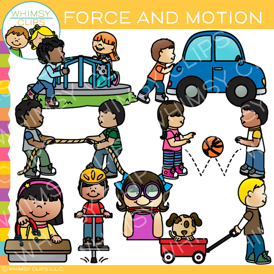 Ela motors clipart black and white Force and Motion Clip Art black and white