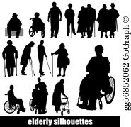 Elderly at home clipart silhouette image royalty free library Elderly Clip Art - Royalty Free - GoGraph image royalty free library