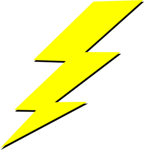 Free clipart of lightning bolts jpg library library Lightning Bolt Clip Art at Clker.com - vector clip art online ... jpg library library