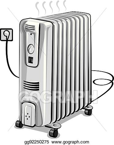 Electric heater clipart freeuse stock Vector Art - Oil electric heater. EPS clipart gg92250275 - GoGraph freeuse stock