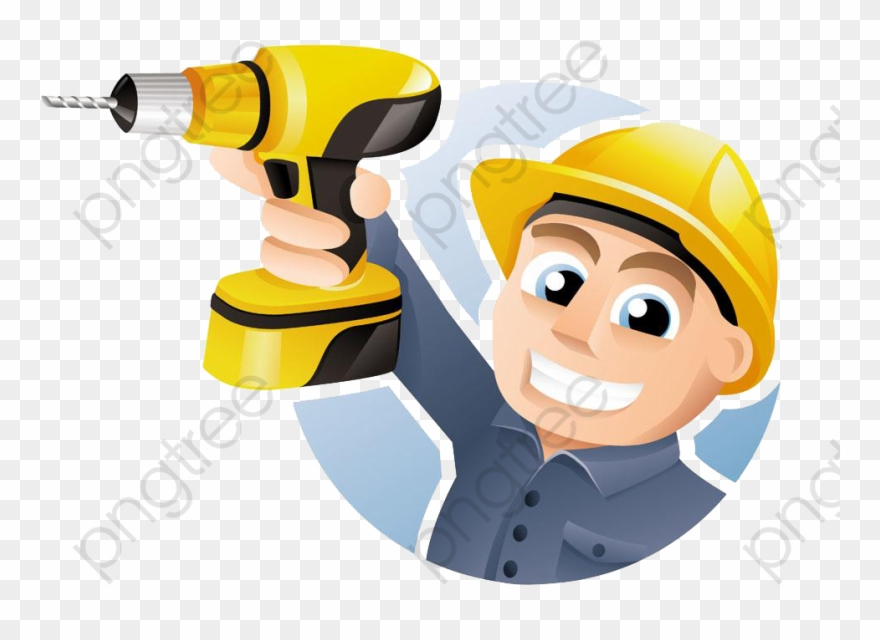 Electrical tools clipart image transparent An Electric Tool Worker, Safety Hat, Hand Tools, Cartoon - Carpenter ... image transparent