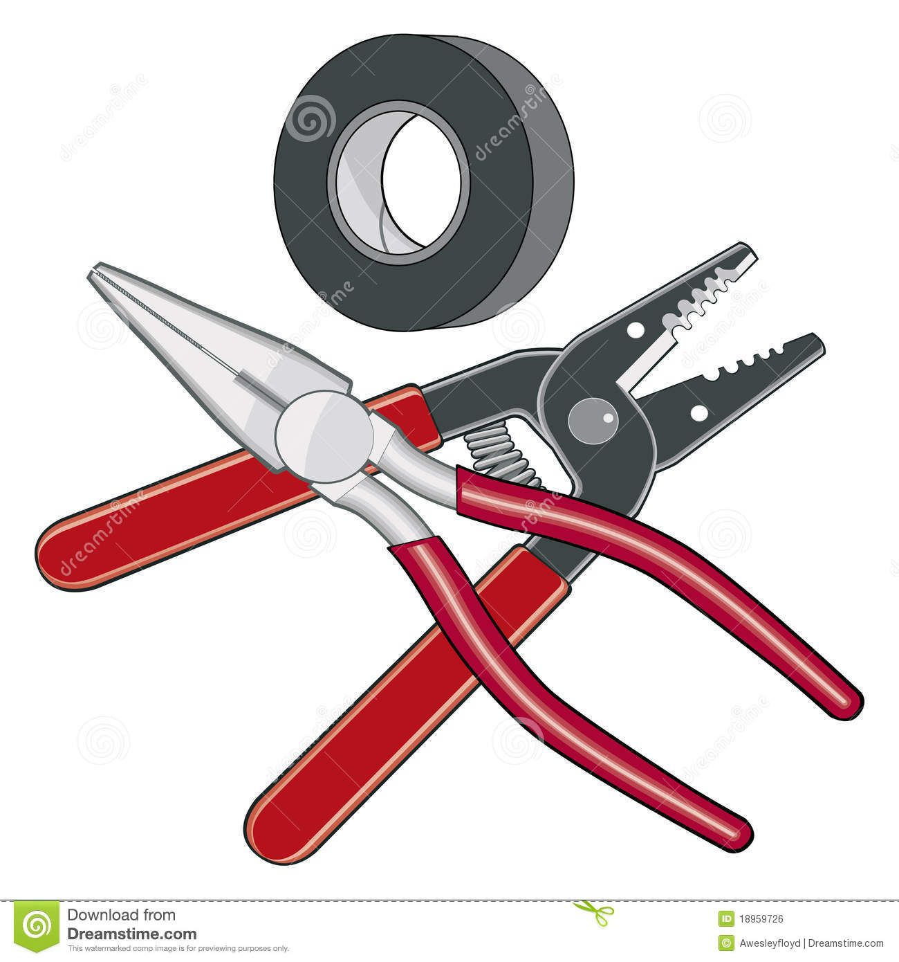 Electrical tools clipart svg library Electrician Tools Logo Royalty Free Stock Image - Image: 18959726 ... svg library