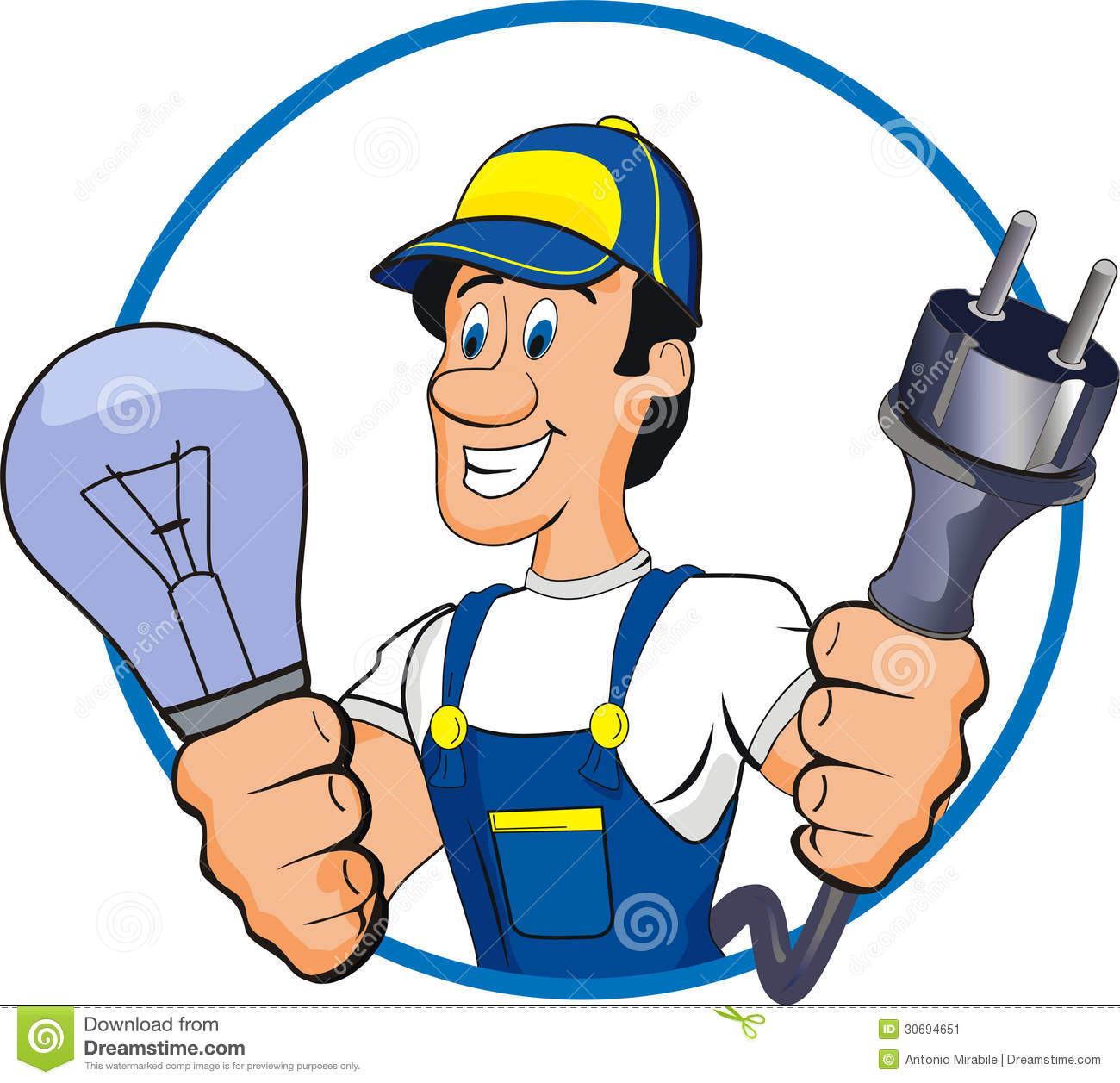 Electrician clipart image picture free library Electrician clipart » Clipart Station picture free library
