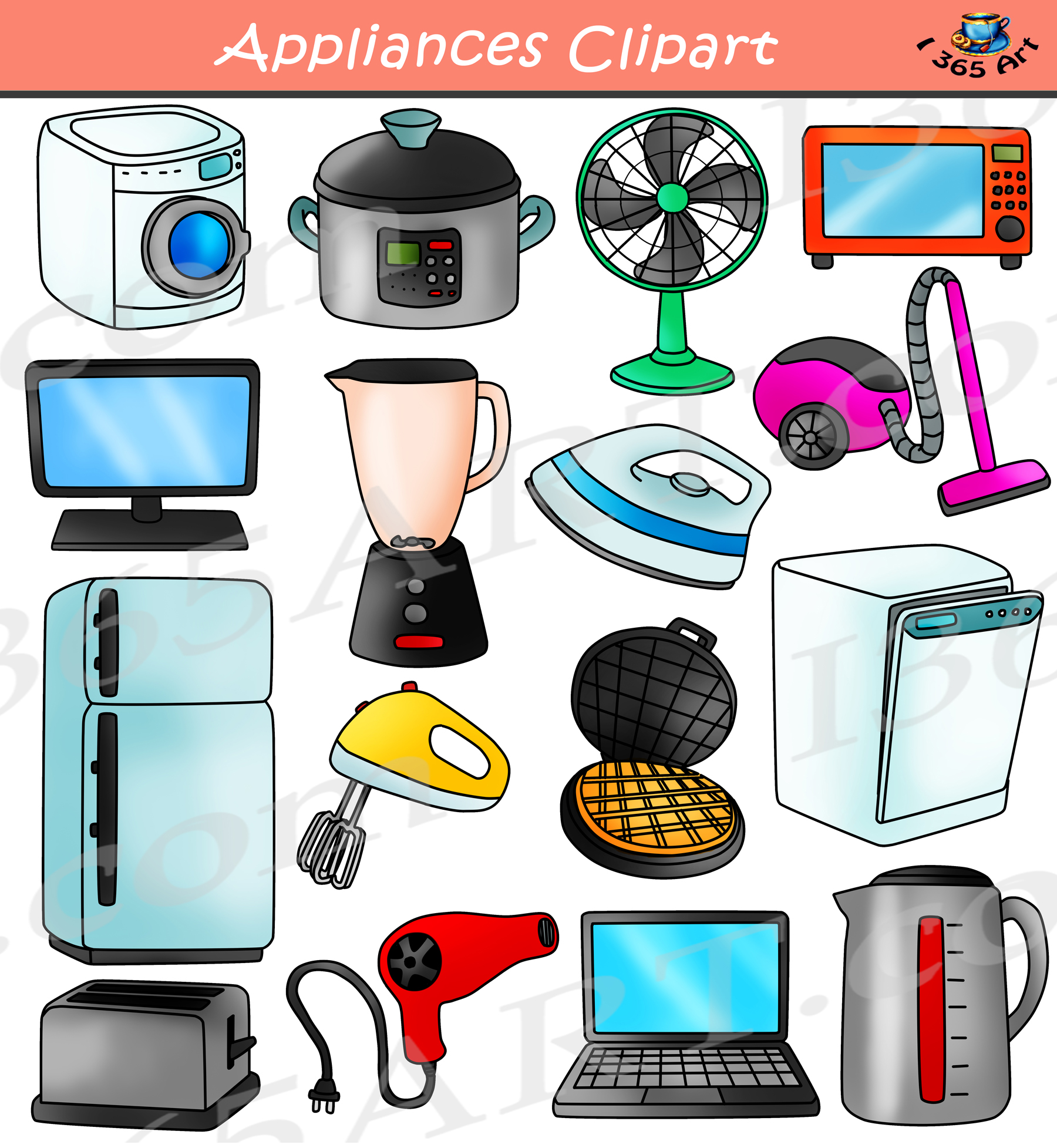 Electronic device clipart clip art freeuse download Appliances Clipart & Electrical Devices School Clipart clip art freeuse download