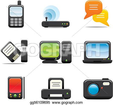 Electronics clip art svg freeuse download Electronic Clip Art - Royalty Free - GoGraph svg freeuse download