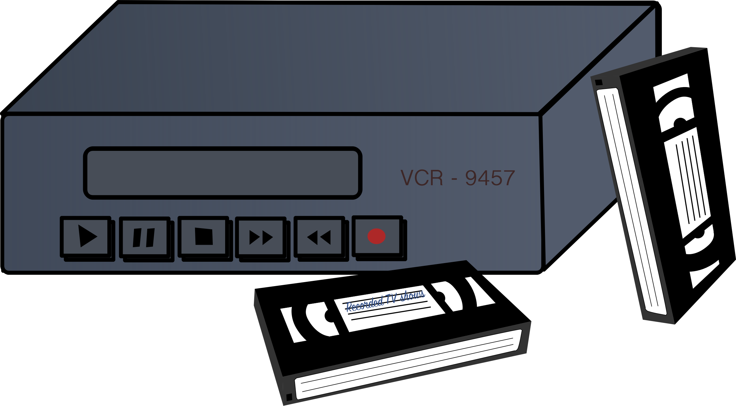 VHS VCRs Clip art - video recorder 2400*1324 transprent Png Free ... picture royalty free