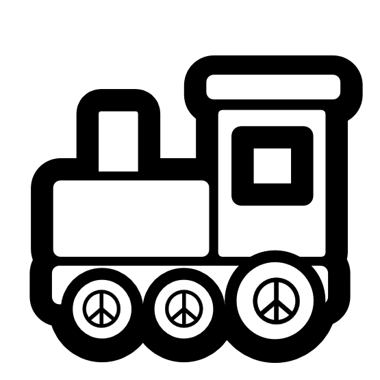 clipartist.net » Clip Art » toy train icon black white christmas ... clip art free download