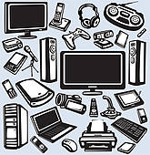 Electronics clipart free png freeuse download Electronics Clip Art - Royalty Free - GoGraph png freeuse download