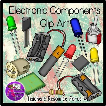 Electronics cliparts clip transparent library Electronic Components and circuit symbols clip art | Pinterest ... clip transparent library