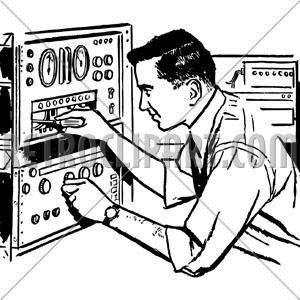 Electronics technician clipart svg download Electronics Technician 2, RetroClipArt.com svg download