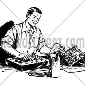 Electronics technician clipart library Electronics Technician, RetroClipArt.com library