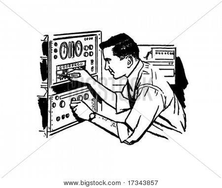 Electronics technician clipart clip download Electronics Technician 2 - Retro Clip Art Stock Vector & Stock ... clip download