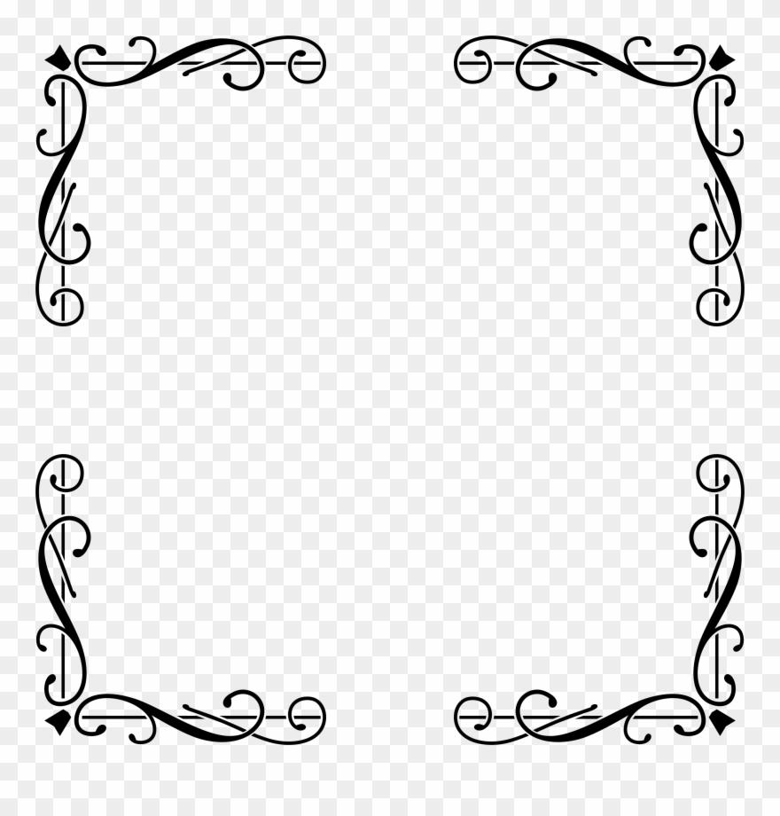 Elegant border clipart image freeuse stock Big Image - Elegant Border Design Png Clipart (#187576) - PinClipart image freeuse stock