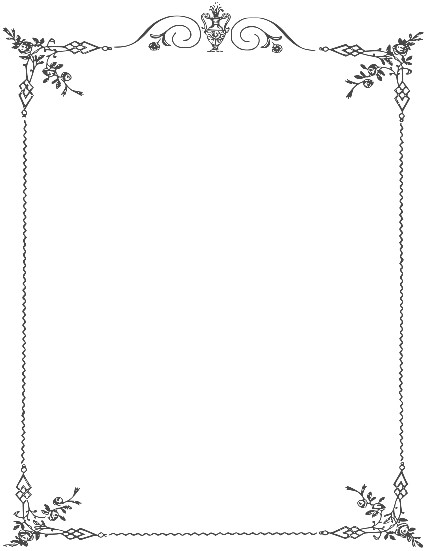 Elegant border clipart image freeuse library Elegant Page Borders … | ghg | Page … image freeuse library