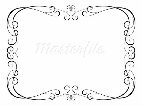 Elegant border frame clipart