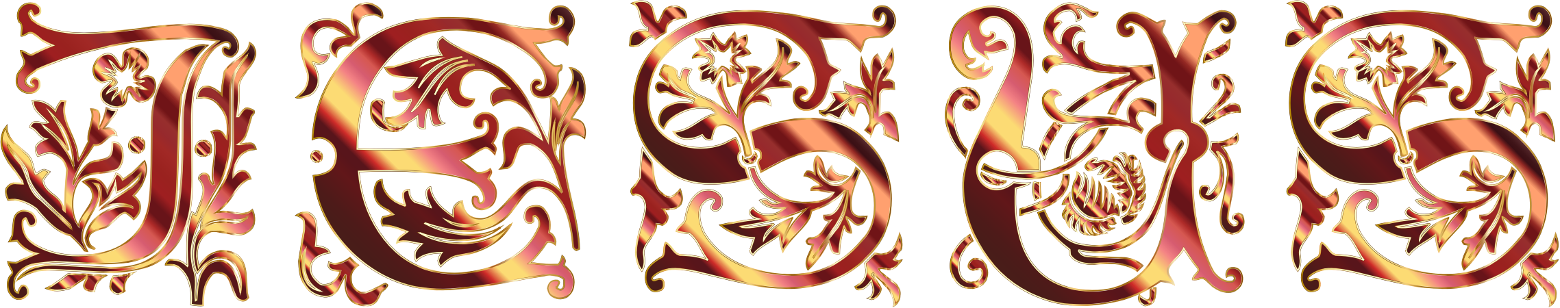 Elegant catholic cross clipart transparent Clipart - Jesus Elegant Typography 4 No Background transparent