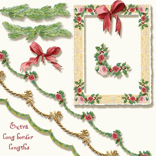 Elegant christmas bough clipart jpg transparent library A Cup of Christmas Tea Inspired Clip Art by Audrey Jeanne Roberts ... jpg transparent library