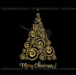 Elegant christmas images clipart png free stock Elegant Christmas background with gold baubles - vector clipart png free stock
