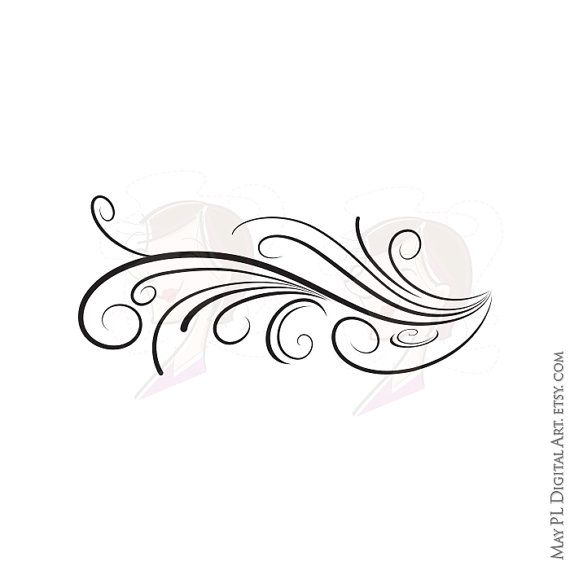 Elegant clipart vector transparent Elegant swirl clip art - ClipartFest vector transparent