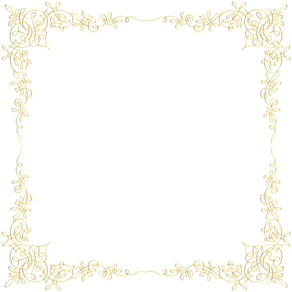 Elegant crown boarder clipart picture free stock Golden Border Transparent PNG Image | Stuff to Buy | Pinterest ... picture free stock