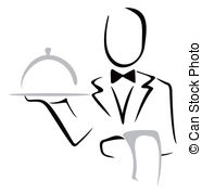 Elegant dinner clipart image black and white Servant Vector Clipart EPS Images. 1,848 Servant clip art vector ... image black and white