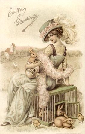 Elegant easter clipart transparent stock Vintage Easter Greeting Cards and Antique Graphics transparent stock
