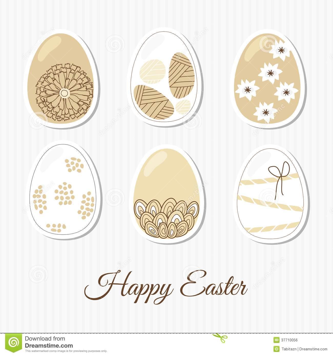 Elegant easter clipart banner royalty free download Spring Set Of Easter Eggs, Elegant Patterns, Illu Royalty Free ... banner royalty free download