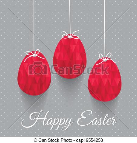 Elegant easter clipart vector royalty free library Clipart Vector of Elegant Easter greeting card with eggs and bows ... vector royalty free library