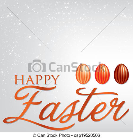 Elegant easter clipart picture black and white library Vector Clipart of Elegant Easter egg card in vector format ... picture black and white library