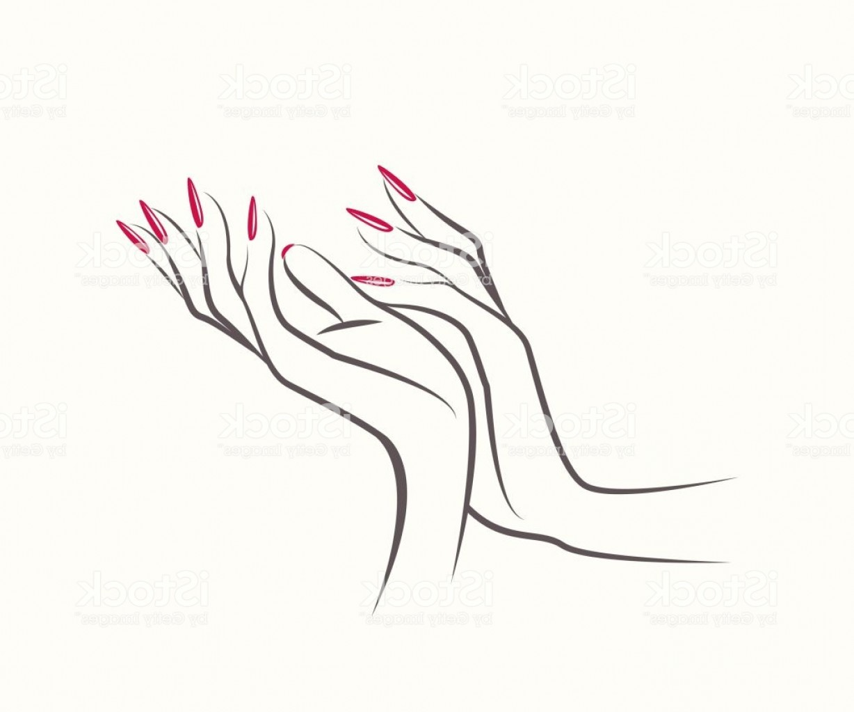 Elegant female hand and feet clipart outline nail polish svg free library Vector Hands With Nails | SOIDERGI svg free library