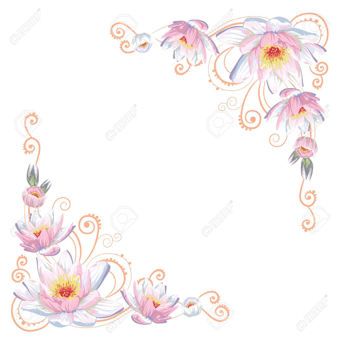 Elegant flower clipart image library stock Elegant Flower Border Clipart image library stock