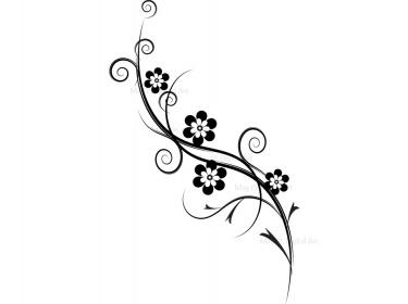 Elegant flowers clipart