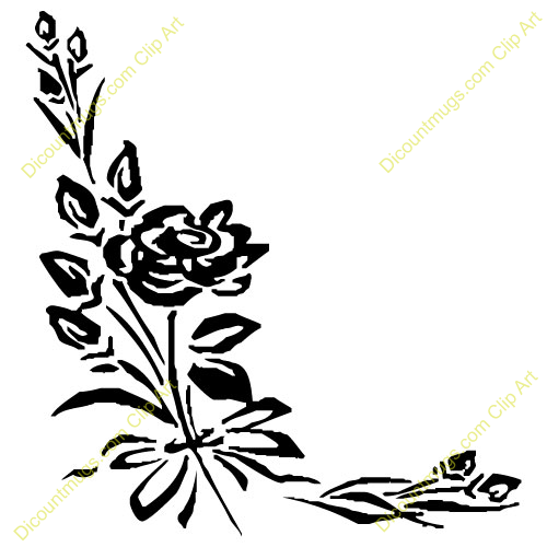 Wedding flower clip art - ClipartFest banner black and white download