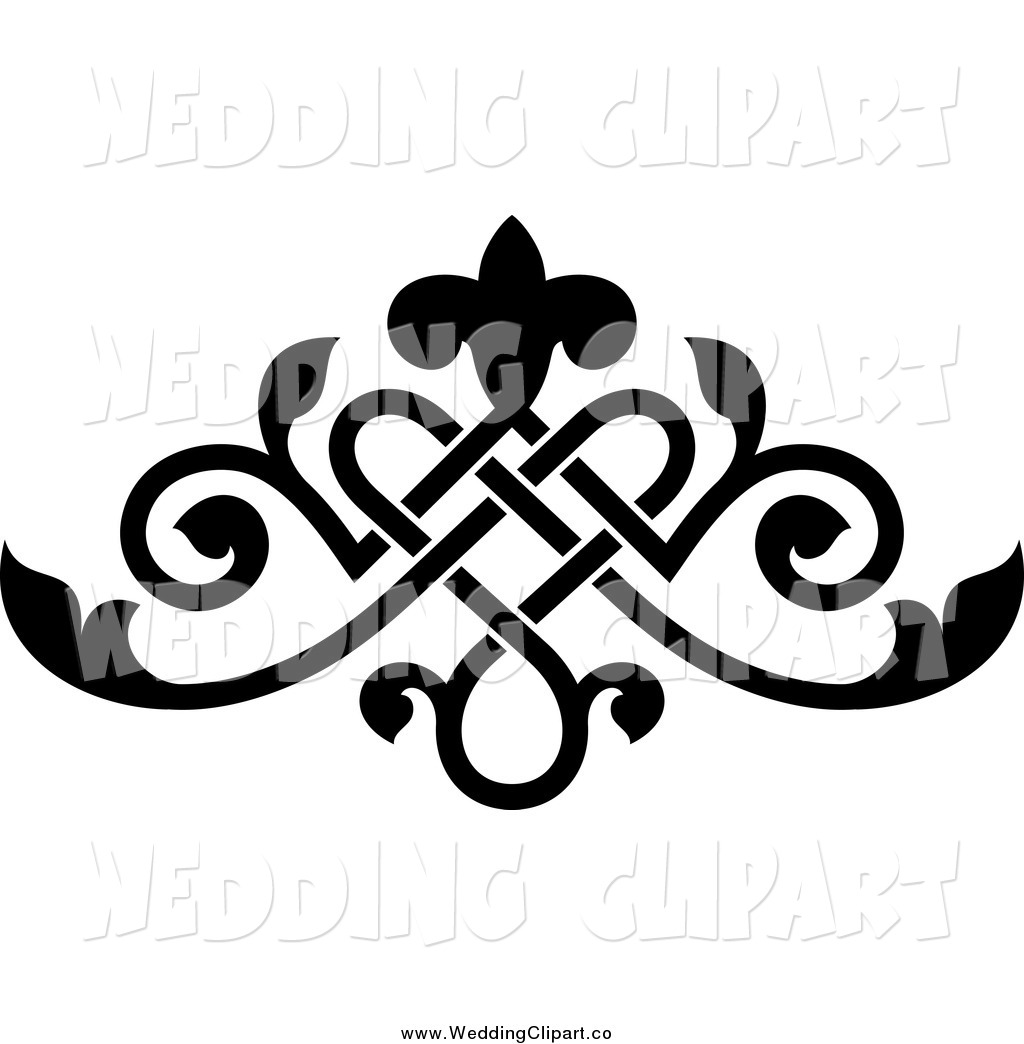 Elegant Victorian Flower Clipart vector stock