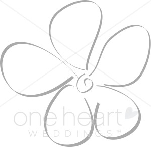 Daisy Flower Clipart | Elegant Wedding Flower Sketches vector stock