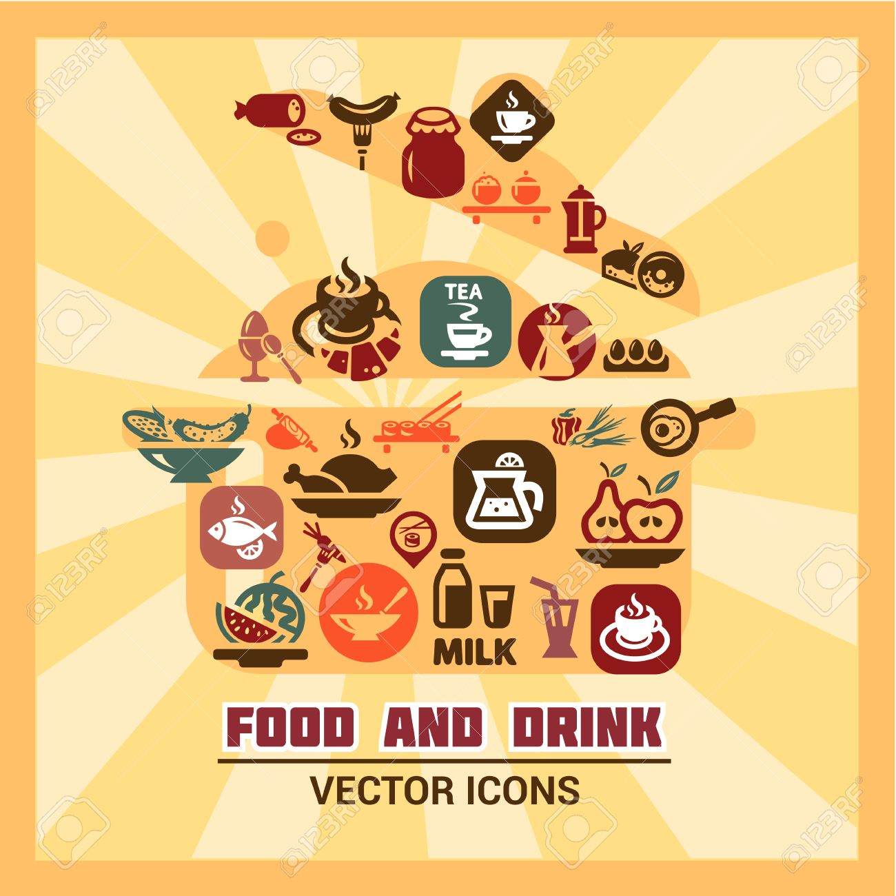 Elegent vector food clipart - ClipartFest image library