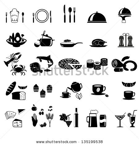 Elegant food clipart images graphic free library Elegent vector food clipart - ClipartFest graphic free library