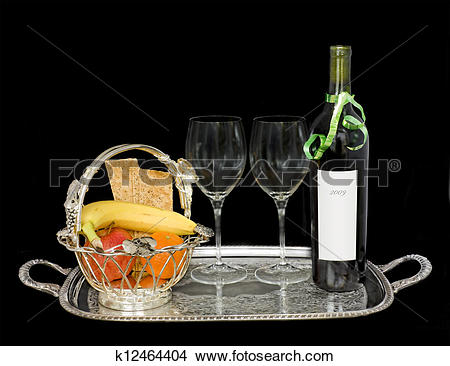 Elegant food wine clipart svg royalty free stock Stock Photo of Elegant food and drink service k12464404 - Search ... svg royalty free stock