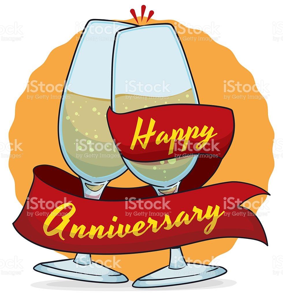 Elegant food wine clipart vector free Elegant Wine Glasses Commemorating Anniversary stock vector art ... vector free