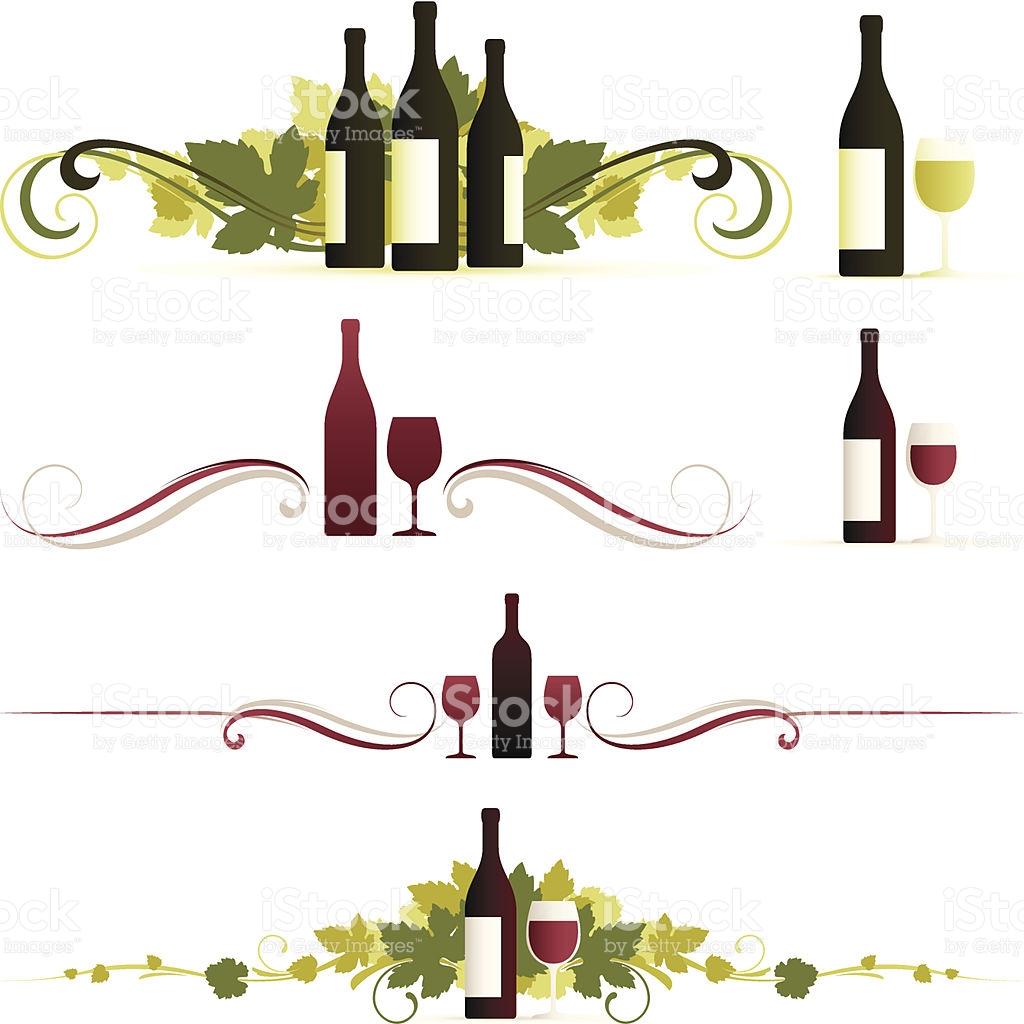 Elegant food wine clipart clipart freeuse stock Elegant Wine Symbols stock vector art 165670173 | iStock clipart freeuse stock