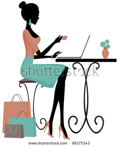 Elegant girl clipart svg freeuse library Illustration Young Elegant Woman Having Coffee Stock Vector ... svg freeuse library